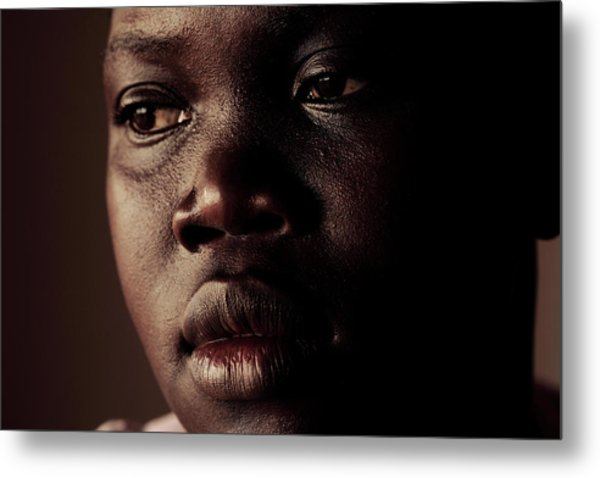 Displaced Ugandan Teenager Metal Print