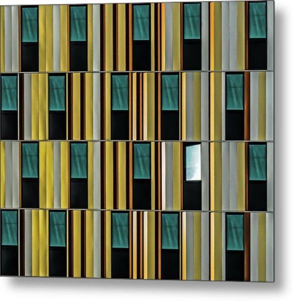 Dissident Window Metal Print by Luc Vangindertael (lagrange)