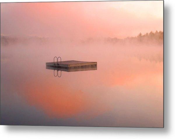 Distant Dock At Sunrise Metal Print