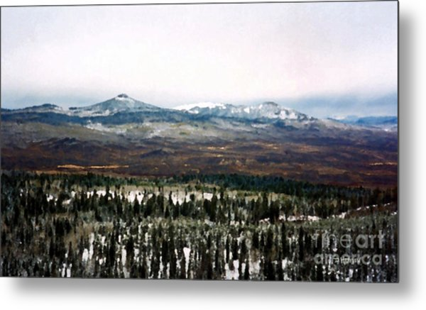 Distant Rockies Metal Print