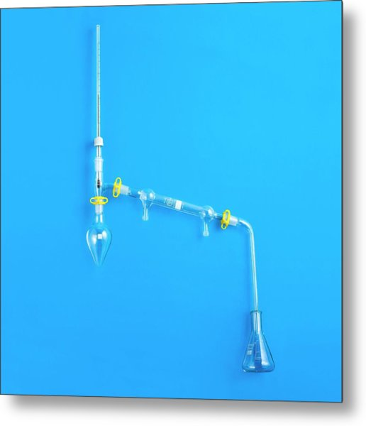 Distillation Apparatus Metal Print by Science Photo Library