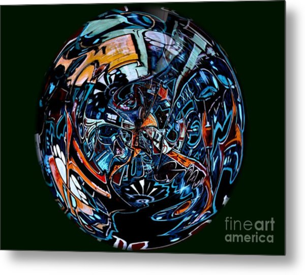 Distorted Earth - No.8345 Metal Print