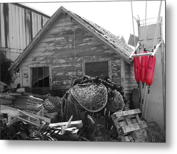 Distressed Fishery Metal Print