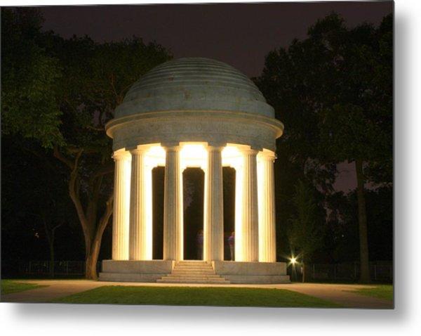 District Of Columbia World War I Memorial At Night Metal Print