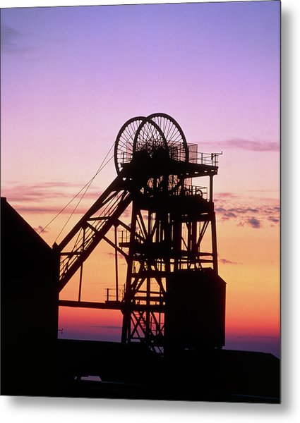 Disused Pit Head In Whitehaven Metal Print by Martin Bond/science Photo Library