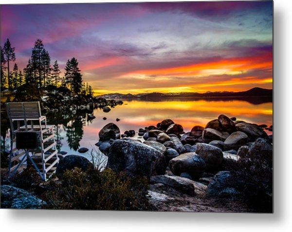 Diver's Cove Lake Tahoe Metal Print