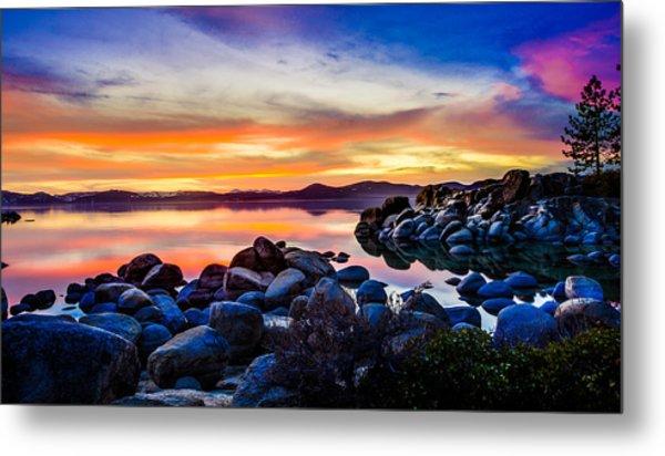 Diver's Cove Lake Tahoe Sunset Metal Print