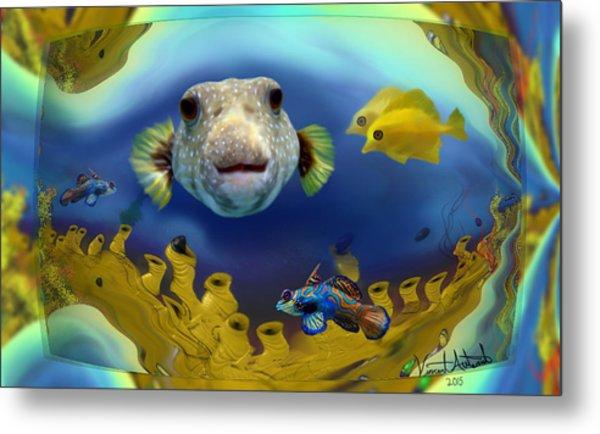 Diver's Perspective Metal Print