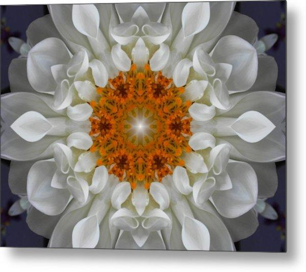 Divine Love Flower Mandala Metal Print