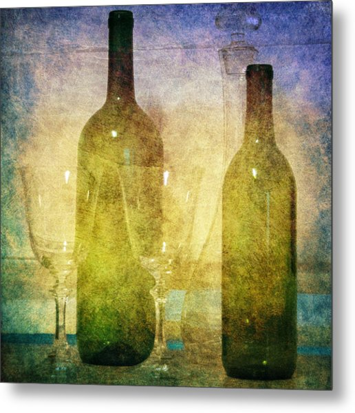 Divine Wine Metal Print