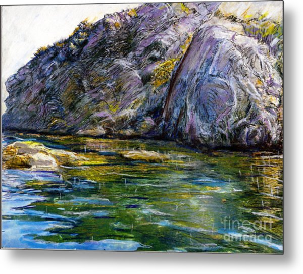 Diving Off Of Lion's Head Catalina Metal Print