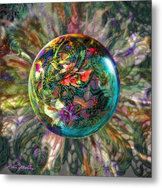 Divining Lace Metal Print