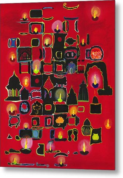 Diwali Diyas Metal Print