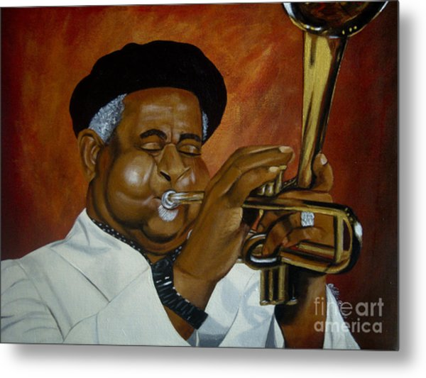 Dizzie Gillespie In Color Metal Print