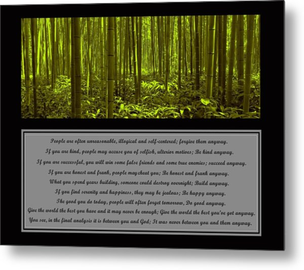 Do It Anyway Bamboo Forest Metal Print