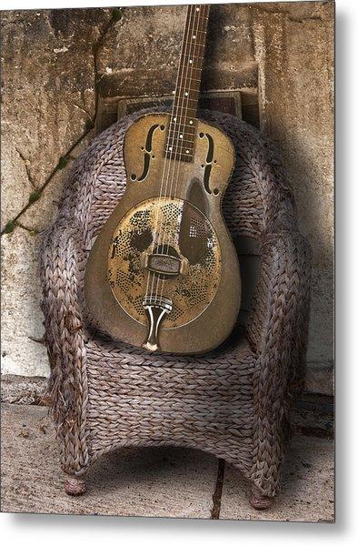 Dobro Guitar Metal Print by Larry Butterworth