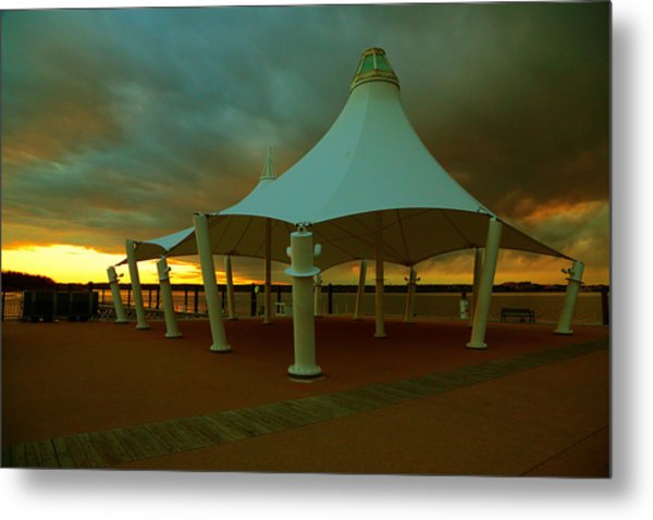 Dock At National Harbor Metal Print
