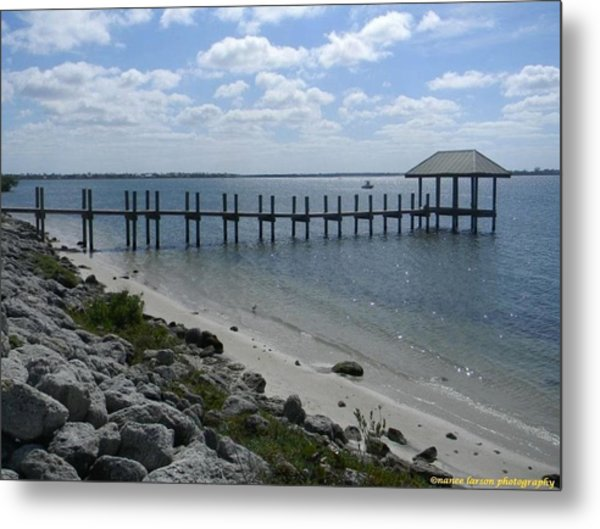 Dock In Stuart Metal Print