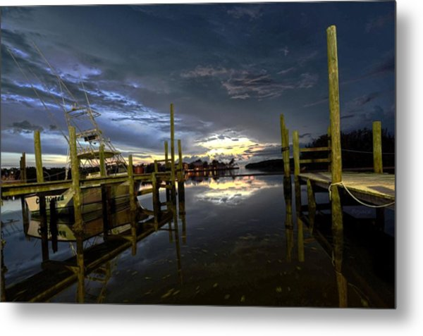 Dock Of The Bay Metal Print by Bob Jackson