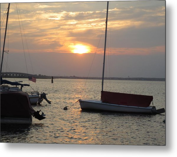 Dock Of The Bay Metal Print by Sandra Spincola