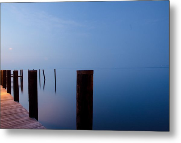Dock Of The Morning Metal Print