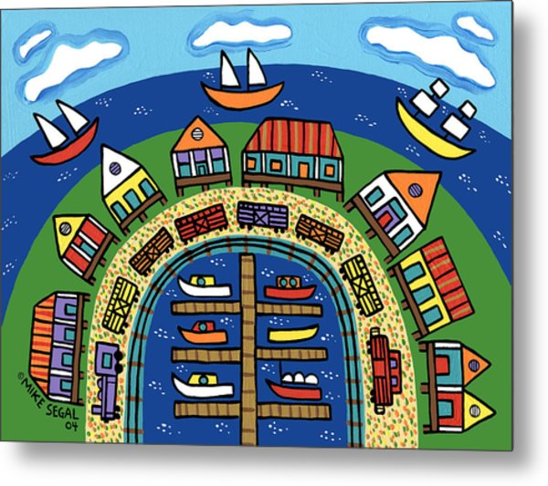 Dock Street-cedar Key Metal Print