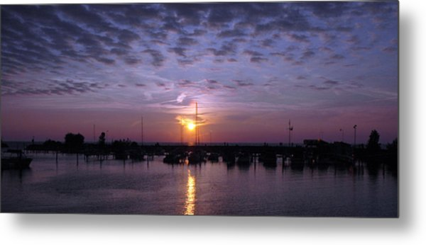 Dock Sunset Metal Print