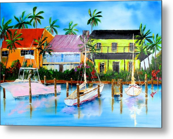 Docked At The House Metal Print