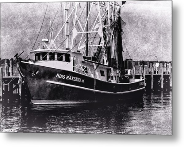 Docked Back Bay Metal Print by Barry Jones