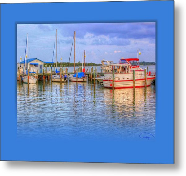 Docked For The Day Metal Print by Tammy Thompson