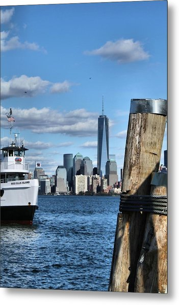 Docks In New York City Metal Print