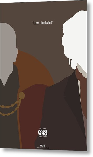 Doctor Who 50th Anniversary Poster Set Eighth Doctor Metal Print by Jeff Bell