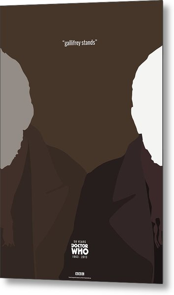 Doctor Who 50th Anniversary Poster Set The War Doctor Metal Print by Jeff Bell