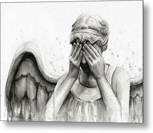 Doctor Who Weeping Angel Don't Blink Metal Print