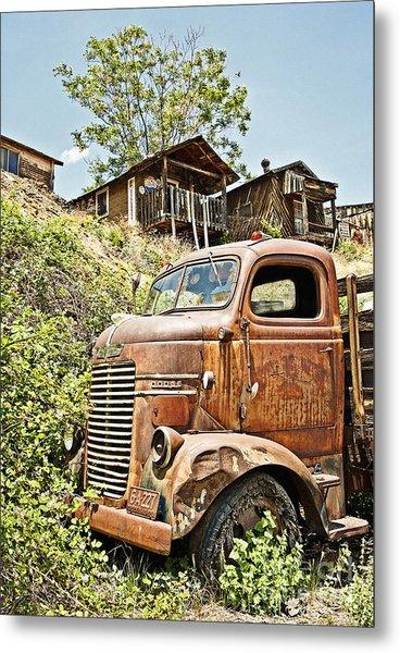 Dodge At The Mining Camp Metal Print