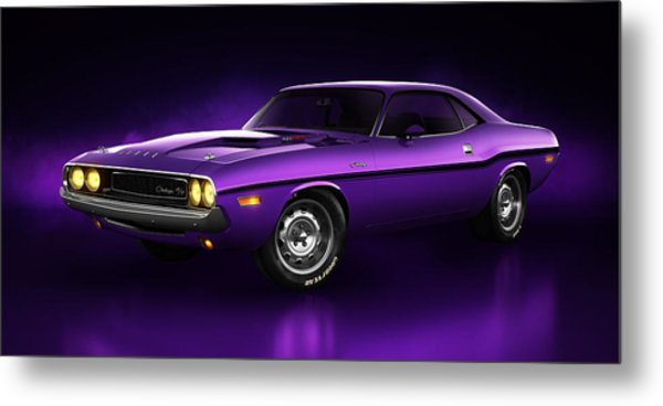 Dodge Challenger Hemi - Shadow Metal Print