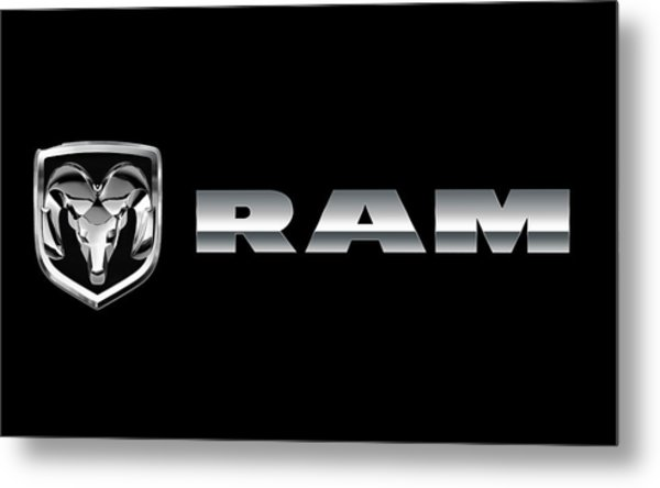Dodge Ram Logo Metal Print