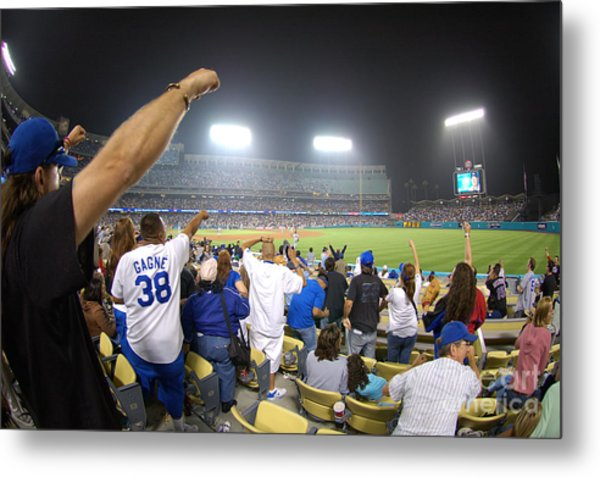 Dodger Stadium 3 Metal Print