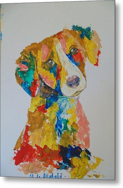 Dog Beautiful Color Metal Print by Abdo Allahabi