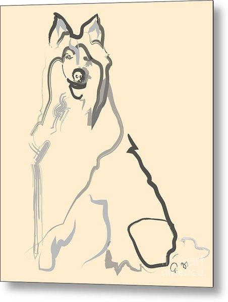 Dog - Lassie Metal Print