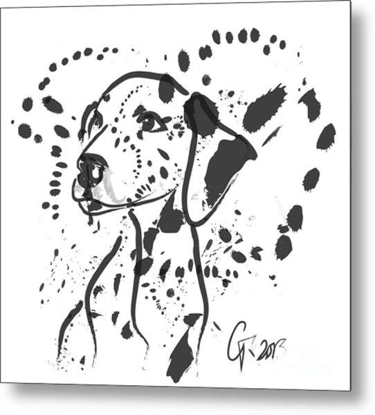 Dog Spot Metal Print