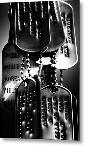 Dog Tags From War Metal Print