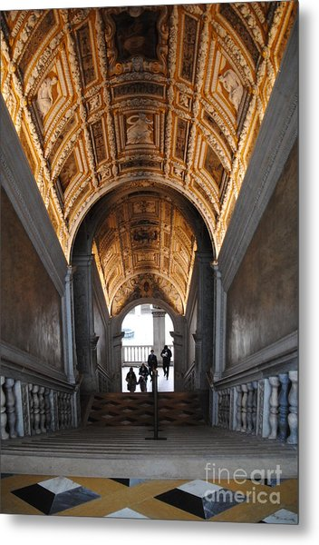 Doges Palace Entry Metal Print by Jacqueline M Lewis