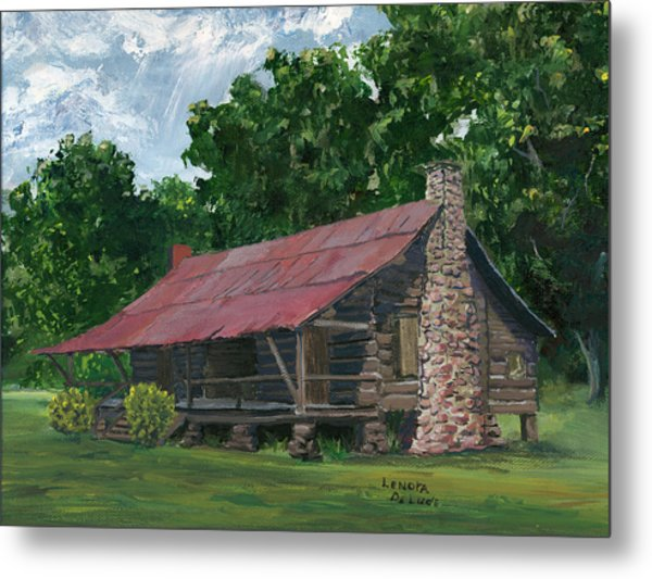 Dogtrot House In Louisiana Metal Print
