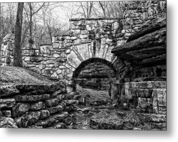 Dogwood Canyon Stone Bridge Metal Print by David Waldo