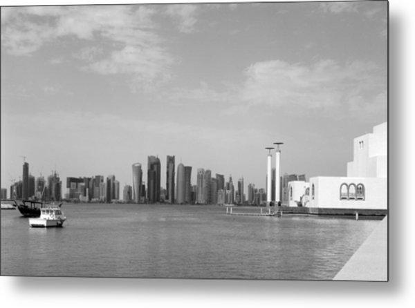 Doha Bay Dec 26 2012 Metal Print by Paul Cowan