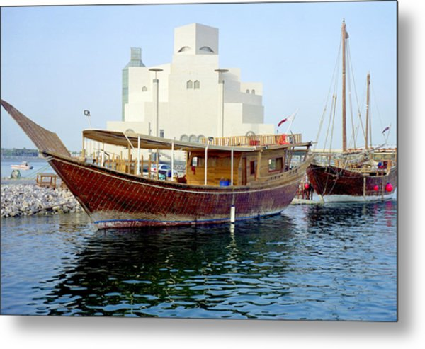 Doha Dhows And Islamic Art Museum Metal Print
