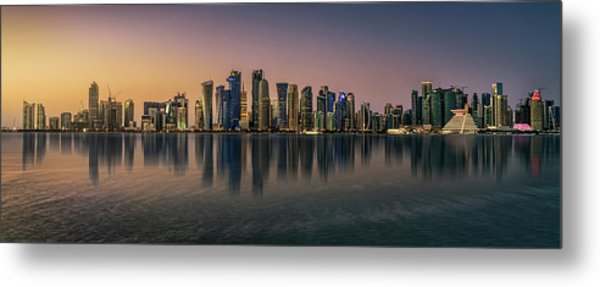 Doha Reflections Metal Print by Antoni Figueras