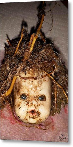Doll Head Metal Print