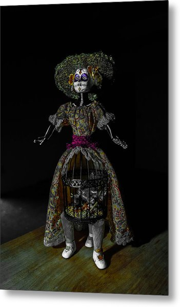 Doll With Dead Bird In New Orleans Metal Print